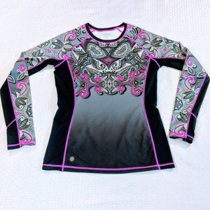 Athleta Runway Paisley Damask Athletic Top